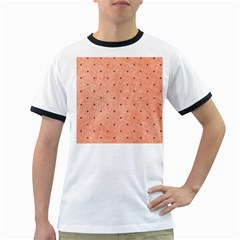 Dot Peach Ringer T Shirts