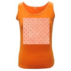 Dot Peach Women s Dark Tank Top