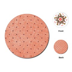 Dot Peach Playing Cards (round)