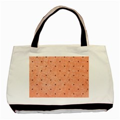 Dot Peach Basic Tote Bag (two Sides)