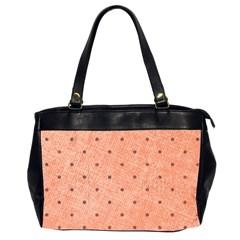 Dot Peach Office Handbags (2 Sides)