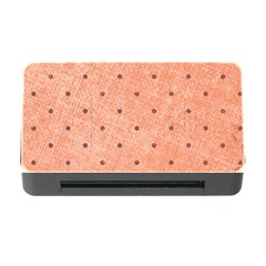 Dot Peach Memory Card Reader With Cf