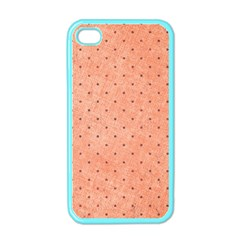Dot Peach Apple Iphone 4 Case (color)