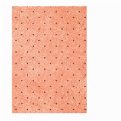 Dot Peach Large Garden Flag (two Sides)