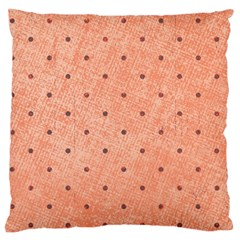 Dot Peach Large Cushion Case (two Sides)