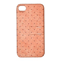 Dot Peach Apple Iphone 4/4s Hardshell Case With Stand