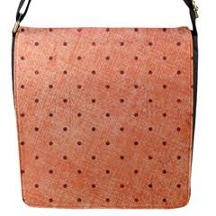 Dot Peach Flap Messenger Bag (s)
