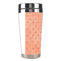 Dot Peach Stainless Steel Travel Tumblers