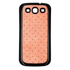 Dot Peach Samsung Galaxy S3 Back Case (black)