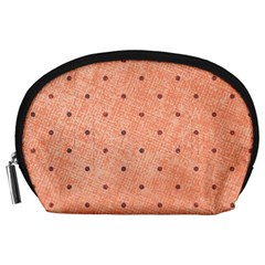Dot Peach Accessory Pouches (large)