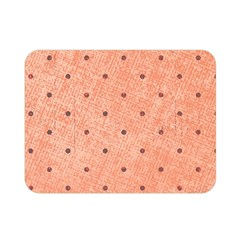 Dot Peach Double Sided Flano Blanket (mini)