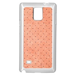 Dot Peach Samsung Galaxy Note 4 Case (white)