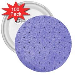 Dot Blue 3  Buttons (100 Pack)