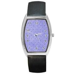 Dot Blue Barrel Style Metal Watch
