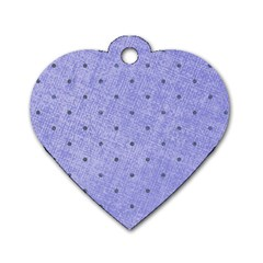 Dot Blue Dog Tag Heart (one Side)