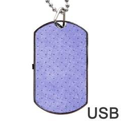 Dot Blue Dog Tag Usb Flash (two Sides)