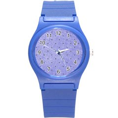 Dot Blue Round Plastic Sport Watch (s)