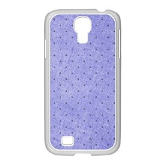 Dot Blue Samsung Galaxy S4 I9500/ I9505 Case (white)