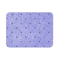 Dot Blue Double Sided Flano Blanket (mini)