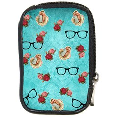 Vintage Glasses Blue Compact Camera Cases