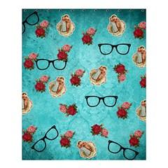 Vintage Glasses Blue Shower Curtain 60  X 72  (medium)
