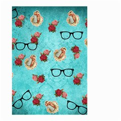 Vintage Glasses Blue Small Garden Flag (two Sides)