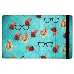 Vintage Glasses Blue Apple Ipad 3/4 Flip Case