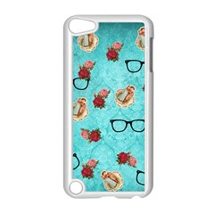 Vintage Glasses Blue Apple Ipod Touch 5 Case (white)