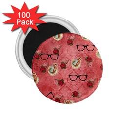 Vintage Glasses Rose 2 25  Magnets (100 Pack)