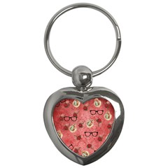 Vintage Glasses Rose Key Chains (heart)