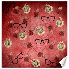 Vintage Glasses Rose Canvas 12  X 12