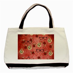 Vintage Glasses Rose Basic Tote Bag (two Sides)