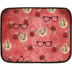 Vintage Glasses Rose Double Sided Fleece Blanket (mini)