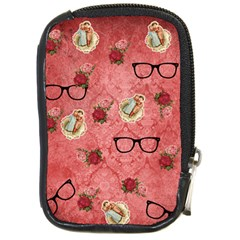 Vintage Glasses Rose Compact Camera Cases
