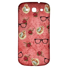 Vintage Glasses Rose Samsung Galaxy S3 S Iii Classic Hardshell Back Case