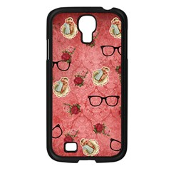 Vintage Glasses Rose Samsung Galaxy S4 I9500/ I9505 Case (black)