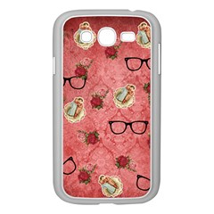 Vintage Glasses Rose Samsung Galaxy Grand Duos I9082 Case (white)