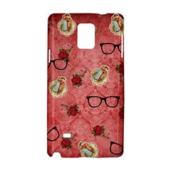 Vintage Glasses Rose Samsung Galaxy Note 4 Hardshell Case