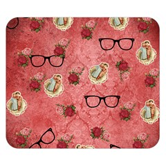 Vintage Glasses Rose Double Sided Flano Blanket (small)