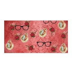 Vintage Glasses Rose Satin Wrap