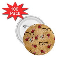 Vintage Glasses Beige 1 75  Buttons (100 Pack)
