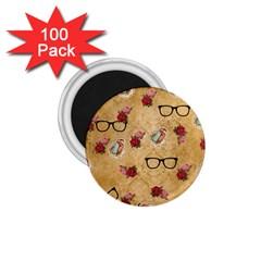 Vintage Glasses Beige 1 75  Magnets (100 Pack)