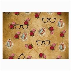 Vintage Glasses Beige Large Glasses Cloth (2 Side)