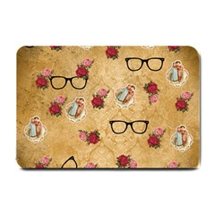 Vintage Glasses Beige Small Doormat