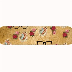 Vintage Glasses Beige Large Bar Mats