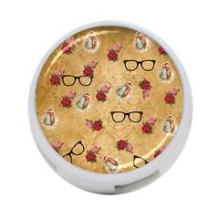 Vintage Glasses Beige 4 Port Usb Hub (one Side)