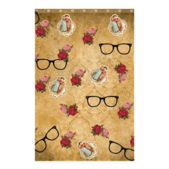 Vintage Glasses Beige Shower Curtain 48  X 72  (small)