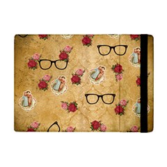 Vintage Glasses Beige Ipad Mini 2 Flip Cases