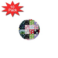 Dino Quilt 1  Mini Buttons (10 Pack)