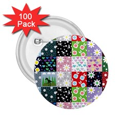 Dino Quilt 2 25  Buttons (100 Pack)